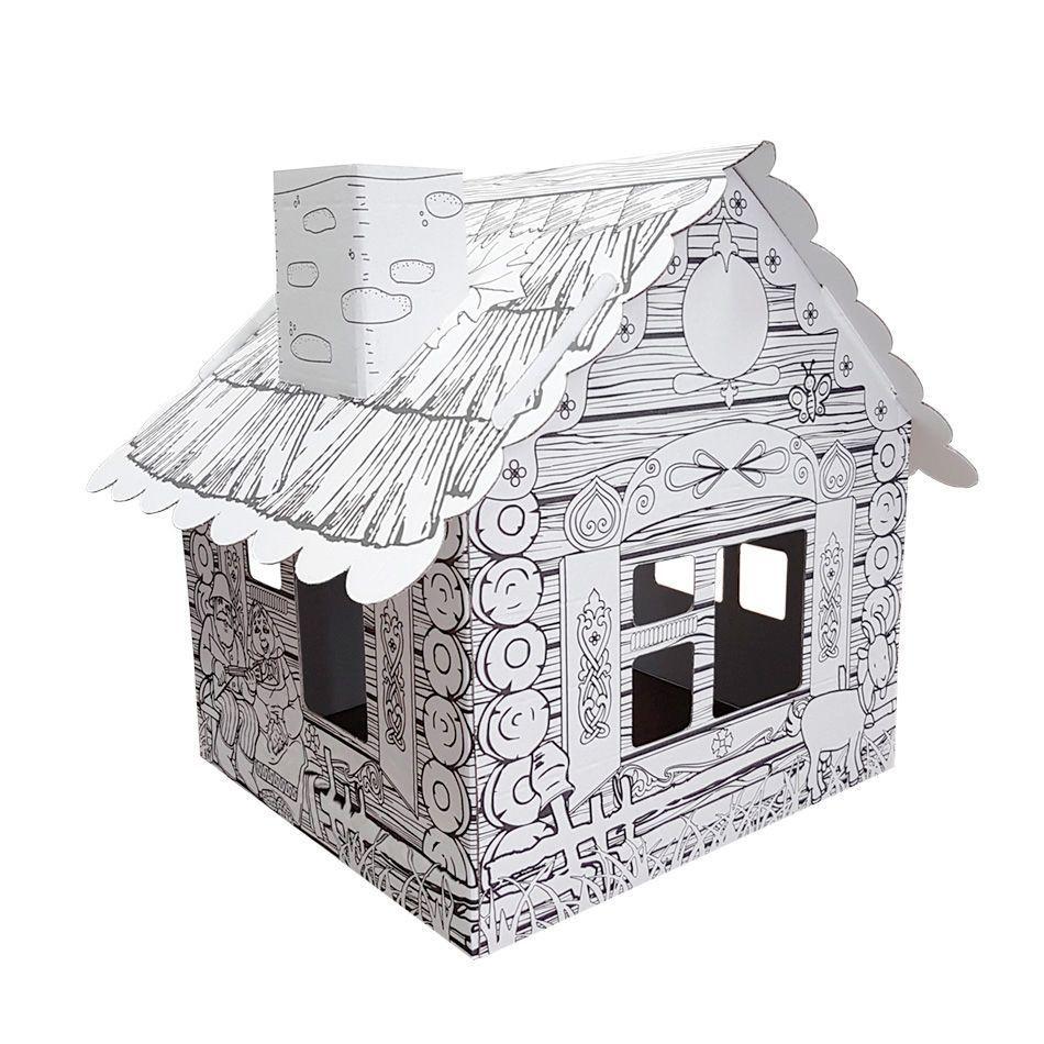 """Картонный домик-раскраска """"Домик в деревне"""" – купить с ..."""